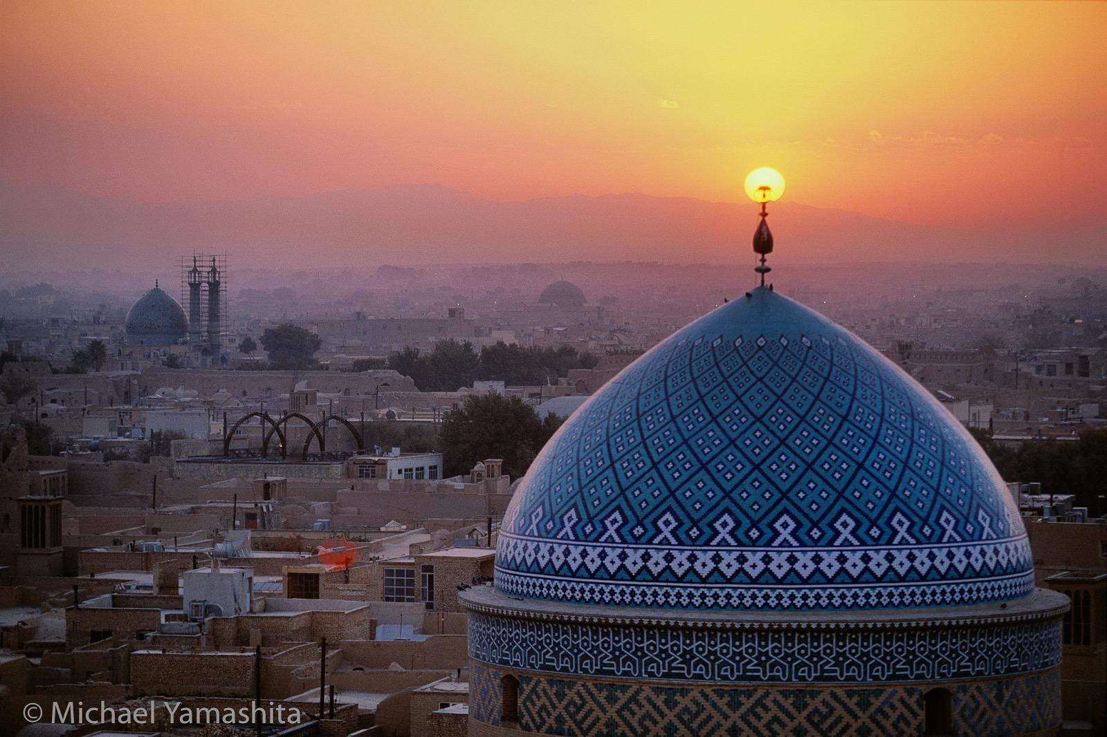 Sunset Mosque in Yazd, Iran