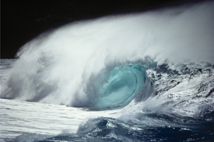 A classic image of a powerful, crashing wave. Great for the den