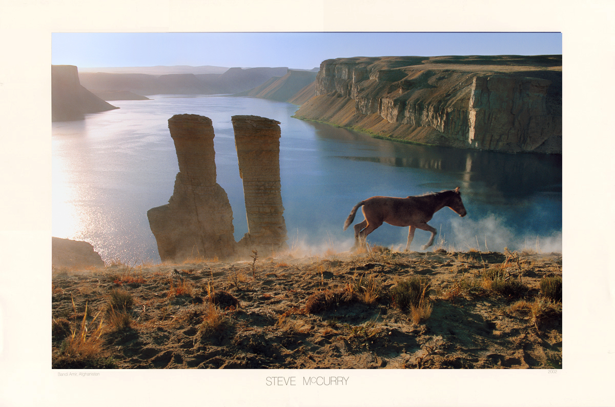 Landscape with Horse, Band-i-Amir, Afghanistan, 2002